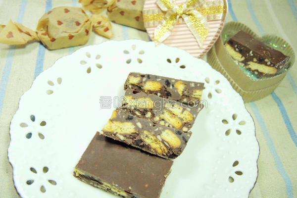 杏仁饼干巧克力的做法