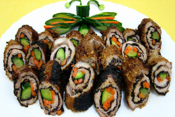 海苔肉卷的做法