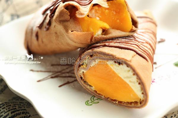 雪藏芒果可丽饼的做法
