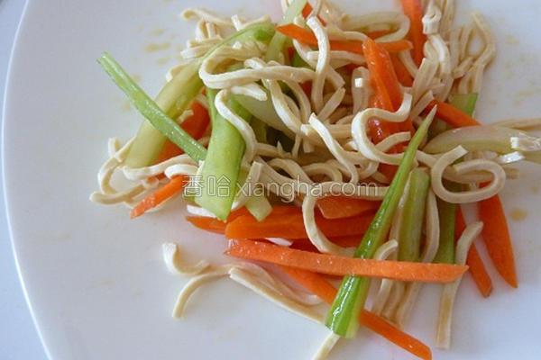 凉拌豆皮蔬菜的做法