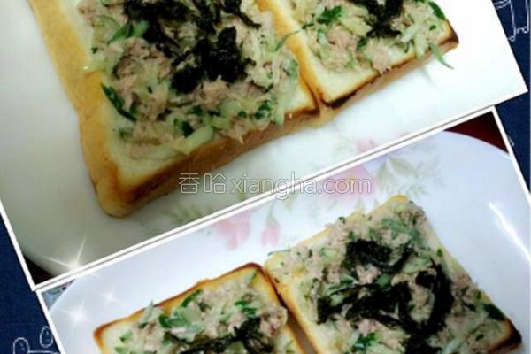 鲔鱼黄瓜厚片吐司的做法
