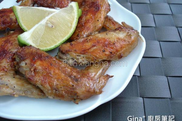 香草烤鸡翅