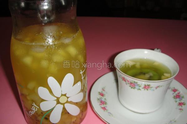 双色奇异果水果茶的做法