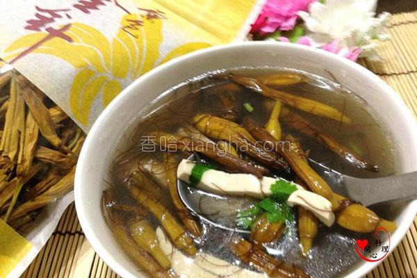 金针发菜素羹汤的做法