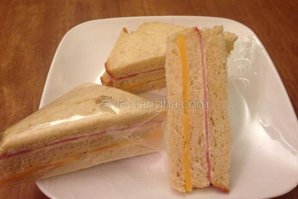 起司火腿三明治的做法