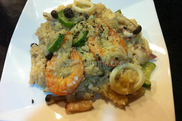 海鲜菇菇炖饭的做法