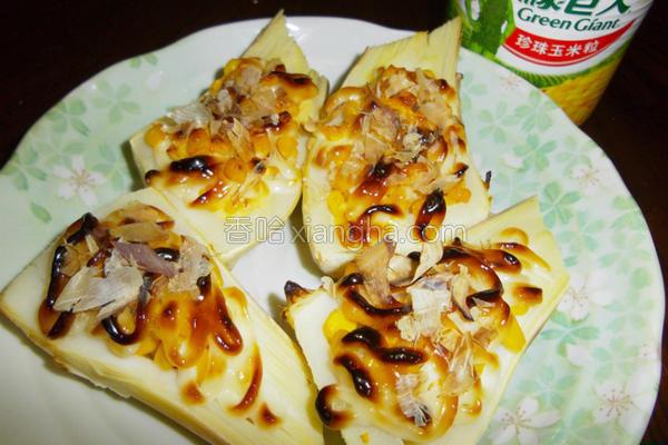 焗烤玉米绿竹笋的做法