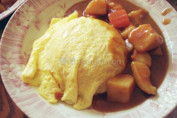咖哩蛋包饭的做法