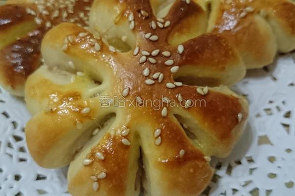 花型面包的做法