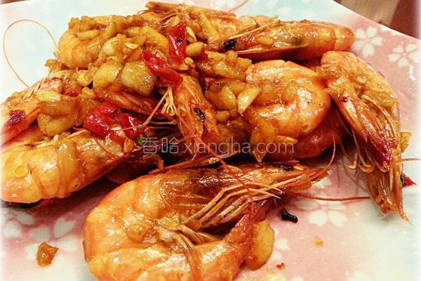 香辣蒜蓉虾的做法