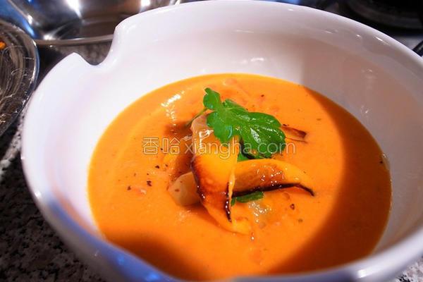 三青椒浓汤的做法