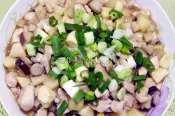 茭白笋鲜菇烩鸡丁的做法