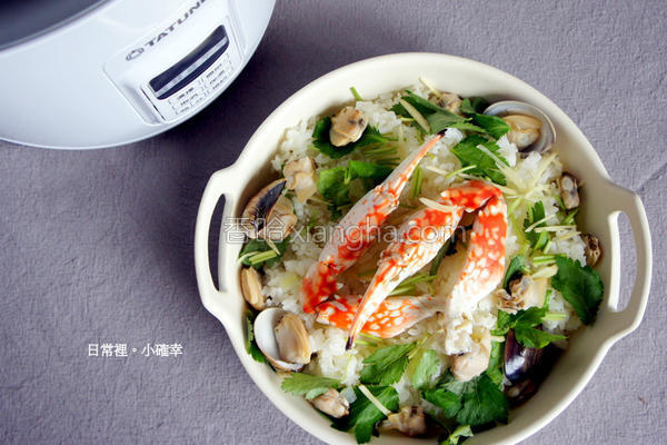 冬瓜蛤蛎蟹肉炊饭的做法
