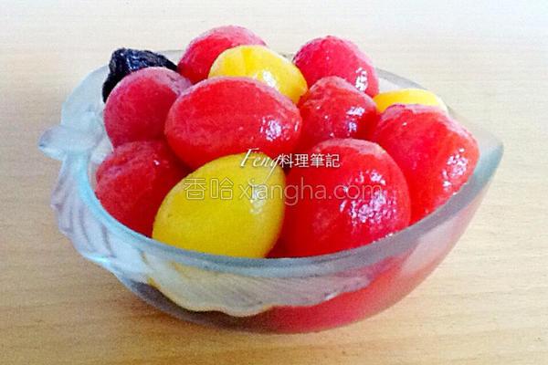 冰梅渍番茄的做法