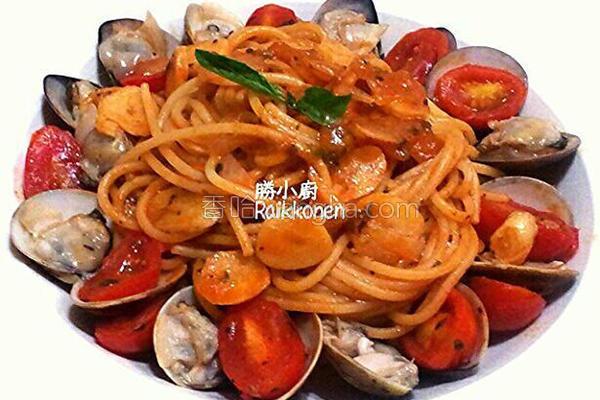 番茄蛤蛎意大利面的做法