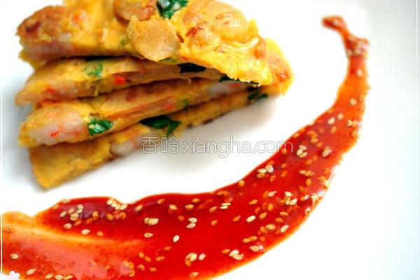韩式泡菜虾仁煎饼的做法