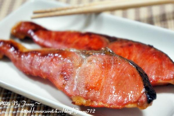 干煎酱油鲑鱼的做法