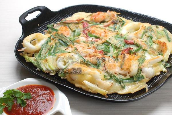 韩式海鲜煎饼的做法