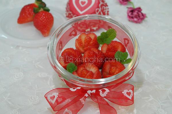 草莓玫瑰礼盒的做法