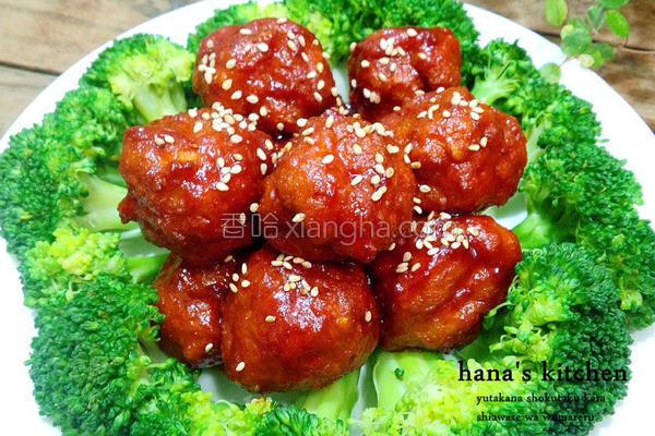 日式糖醋鸡肉丸子的做法