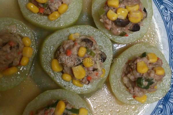 黄金玉米黄瓜盅的做法