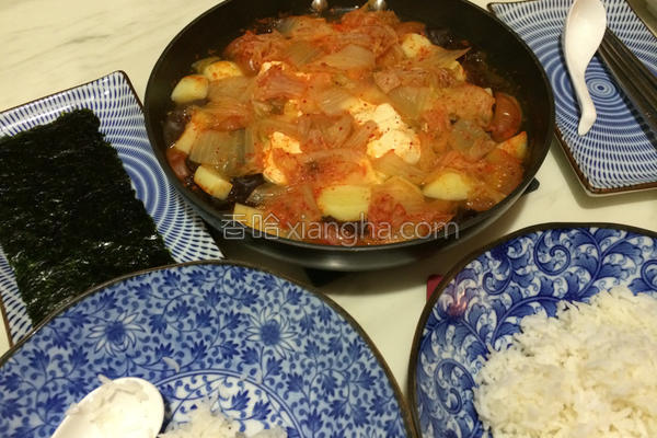 蔬菜泡菜锅的做法