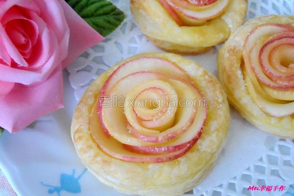 玫瑰苹果起酥派的做法