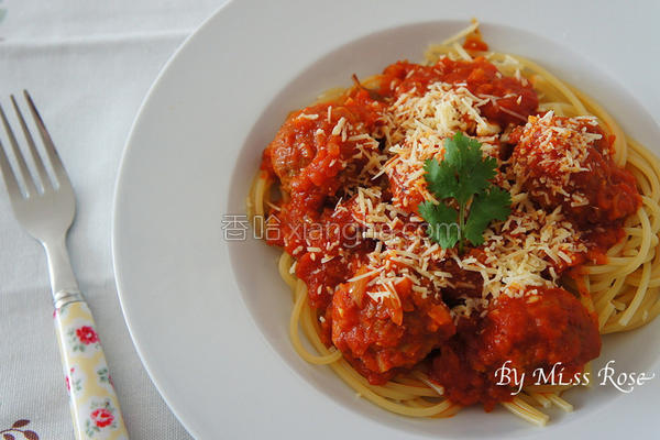 番茄肉丸意大利面的做法