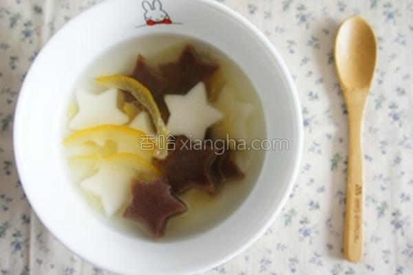 柚子茶星星汤圆的做法
