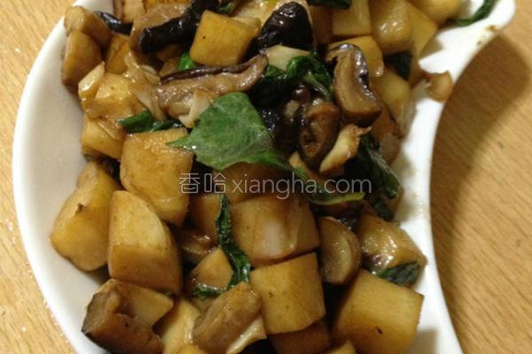 塔香双菇烧笋的做法