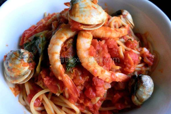 海味番茄意大利面的做法