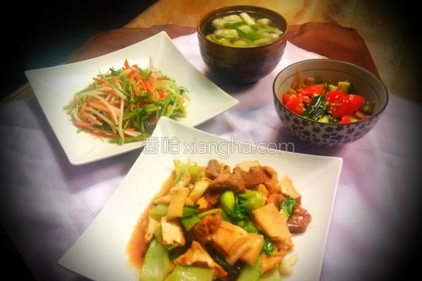 家常豆腐定食的做法