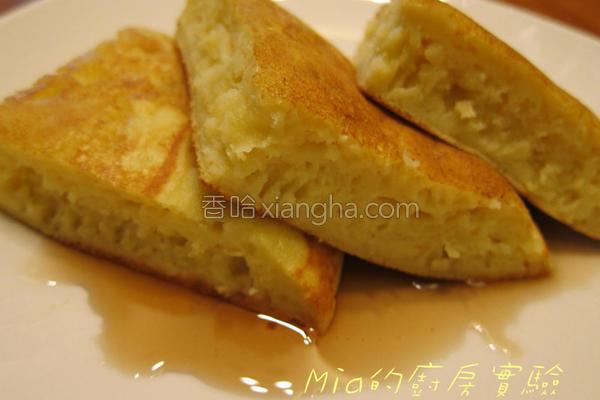 甜甜豆腐松饼的做法