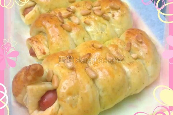 青酱热狗面包卷的做法