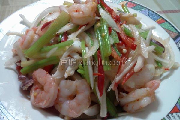 泰式凉拌海鲜的做法