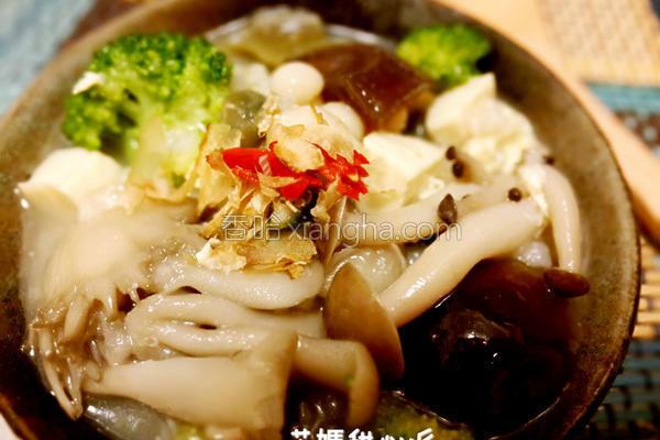 皮蛋菇菇粥的做法
