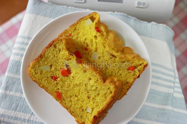 咖哩米面包的做法