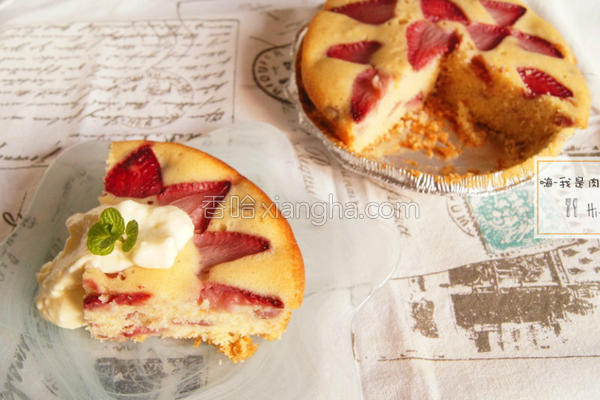 七夕食谱草莓蛋糕的做法