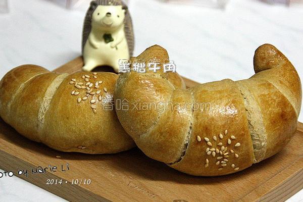 沖绳黑糖牛角面包的做法