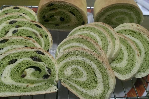 料理抹茶木材面包的做法