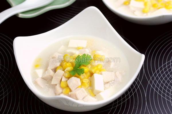 鸡蓉玉米汤的做法
