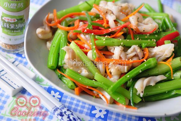 芹菜炒鱼肚