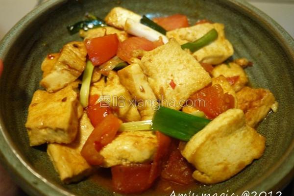 茄烧豆腐的做法