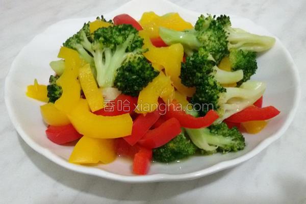 甜椒花椰菜的做法