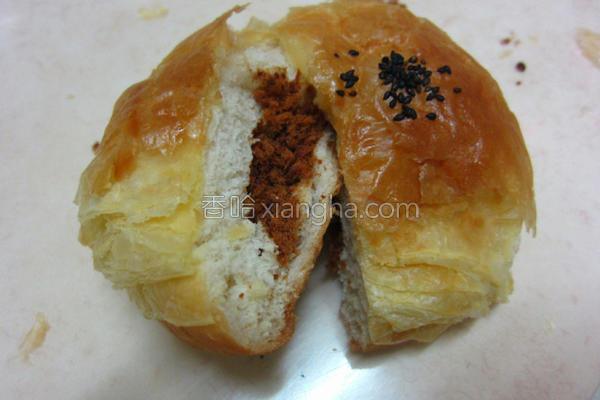 起酥肉松面包的做法