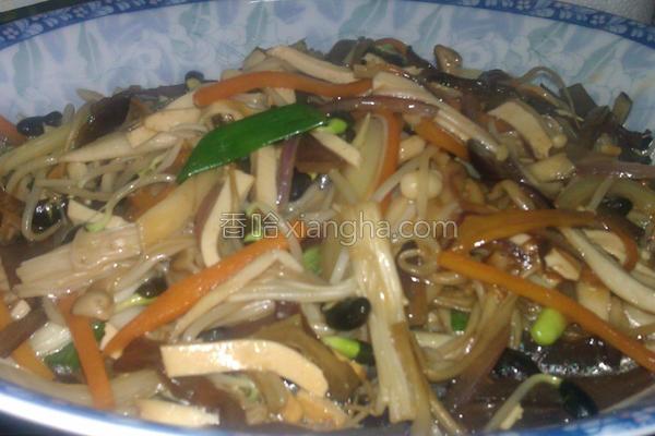 炒什锦食蔬的做法