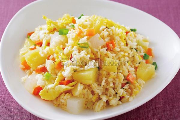 泰式凤梨炒饭的做法
