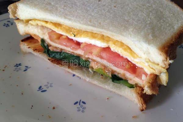 碳烤三明治的做法