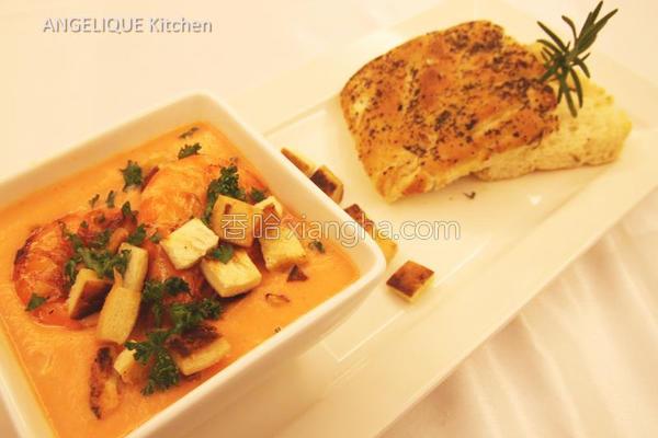 龙虾红萝卜浓汤的做法