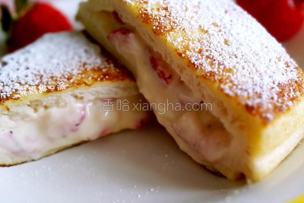 草莓奶酪吐司的做法